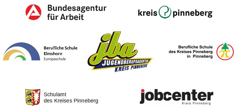Logos des Träger der Jugendberufsagentur des Kreises Pinneberg